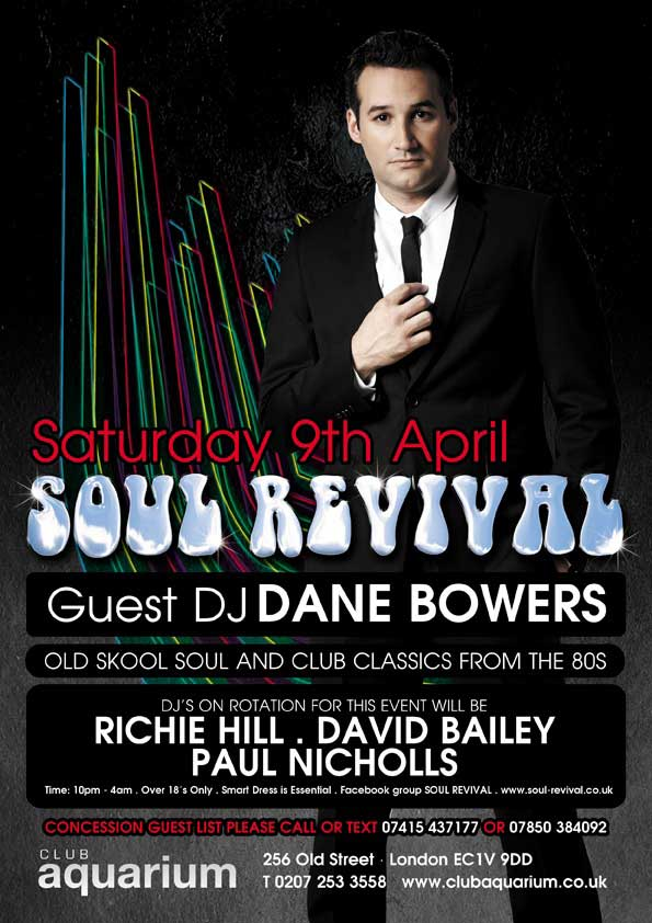 Dane Bowers at London Adonis Club Aquarium April 9th